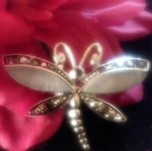 Jewelry - VINTAGE MOTHER OF IVORY BUTTERFLY BROOCH